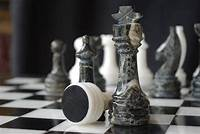 marble chess pieces ChessBaron | The Zebra - Black Zebra Marble and Wh