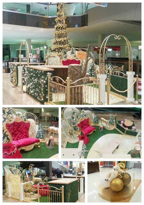 wesfield shopping centre decoration santa set festive decorations - Christmas Decoration Visual