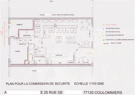 plan cuisine restaurant normes plans d am 233 nagement pour les commissions plan d une