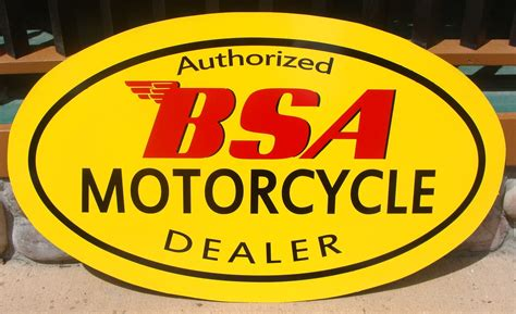 Motorcycle Sign / BSA Motorcycle Sign / BSA Motorcycle ...