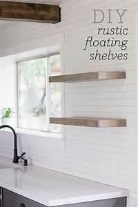 Kitchen Chronicles: DIY floating rustic shelves Jenna