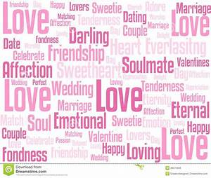 Love Wordcloud Background Royalty Free Stock Image