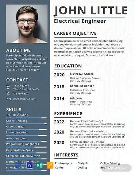 electrical engineer fresher resume template word