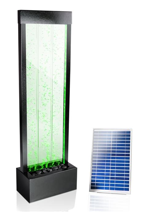 solar powered ls indoor 4ft 9 quot 150cm solar mains powered bubble water wall with