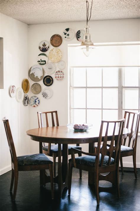 unique wall decor ideas plates  wall dining room