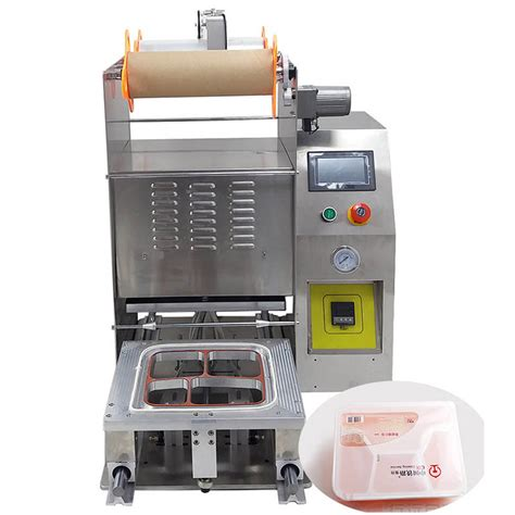 automatic lunchbox fast food container sealing machine factory