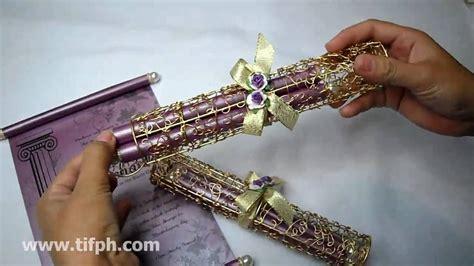 Scroll Wedding Invitations Philippines Newsinvitationco