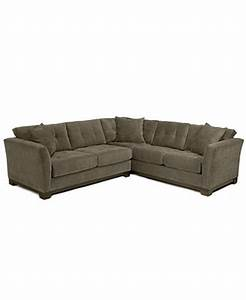 elliot fabric microfiber 2 piece sectional sofa created With elliot sectional sofa macy s