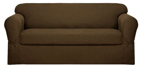 Loveseat Cushion Covers by Maytex Stretch Twill Sofa Loveseat Or Chair Slipcovers