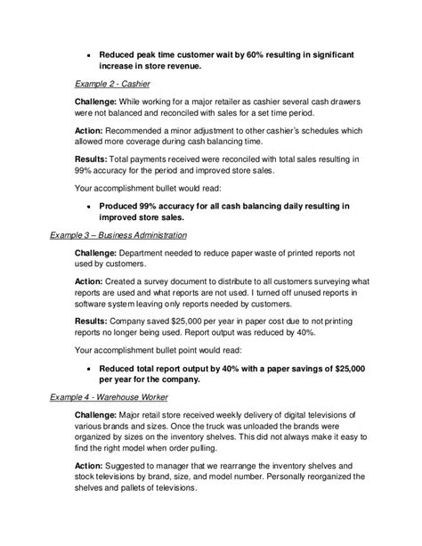 Things To List As Accomplishments On Resume by Personal Accomplishments Exles List Selected List