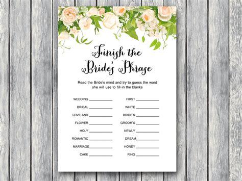 Wedding Shower Game Printable