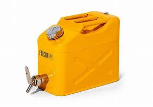 Jerricane 50 Litres : falcon safety canister in steel with dispensing tap yellow 10 litres denios ~ Melissatoandfro.com Idées de Décoration