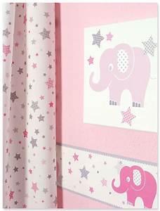 Bordüre Kinderzimmer Elefanten : klassische babyzimmereinrichtung mit elefanten und sternen in rosa grau von dinki balloon ~ Markanthonyermac.com Haus und Dekorationen