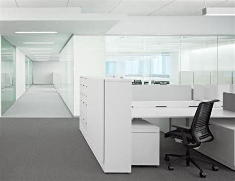 White Office Interior Design By Garcia Tamjidi, Open