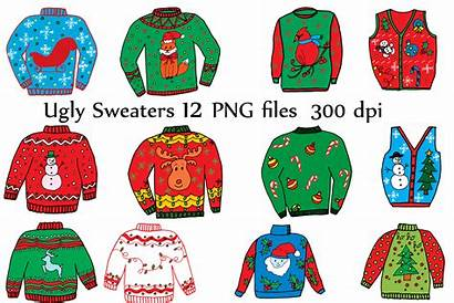 Ugly Sweater Christmas Clipart Holiday Sweaters Vector