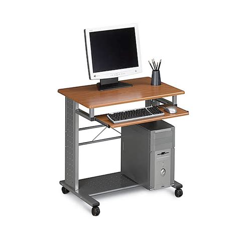 mobile computer desk for home mayline 945 mobile home or office computer desk ugoburo
