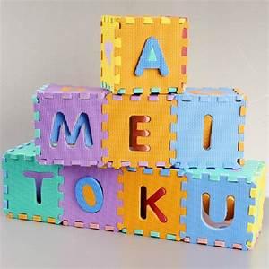 interlocking eva foam alphabet letters numbers baby play With foam letter playmat