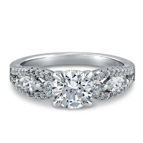 silver solitaire promise engagement ring made with swarovski zirconia 1 6 ct ebay