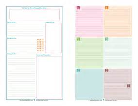 Free Half Page Planner Printables