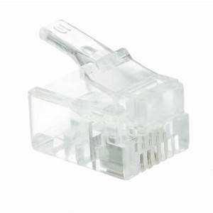 Rj11  6p4c  Modular Plug For Stranded Wire  Bag Of 50