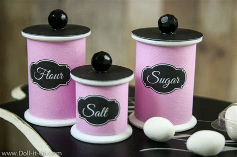 kitchen flour canisters kitchen canisters for your ag doll doll it up