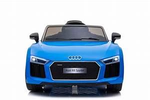 Audi R8 Enfant : voiture lectrique pour enfants audi r8 spyder bleu 12v ~ Melissatoandfro.com Idées de Décoration