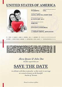 Passport wedding invitation save the date on behance for Save the date passport template