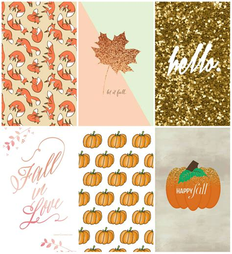 Girly Simple Fall Backgrounds by Autumn Inspired Iphone Wallpapers Milk Tea