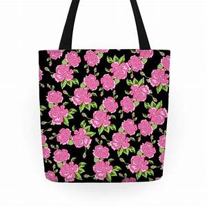 Floral Hipster Pattern Tote Bag   LookHUMAN