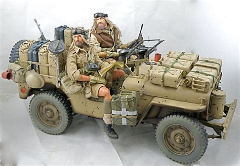 jeep tank military jeep willys 1 35 scale model depicted are the desert rats