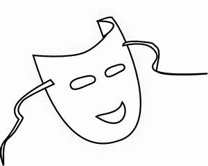 Mask Outline Clip Art at Clker.com - vector clip art ...