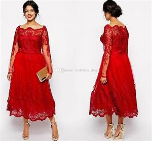modest red lace plus size mother of the bride dresses With plus size tea length dresses for wedding guest