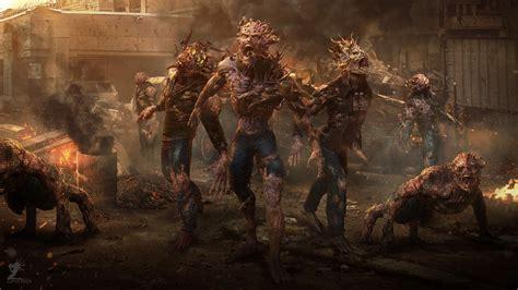 zombies horror zombie artwork attack creature apocalyptic digital background deviantart hd desktop creatures wallpapers backgrounds abstract screen px