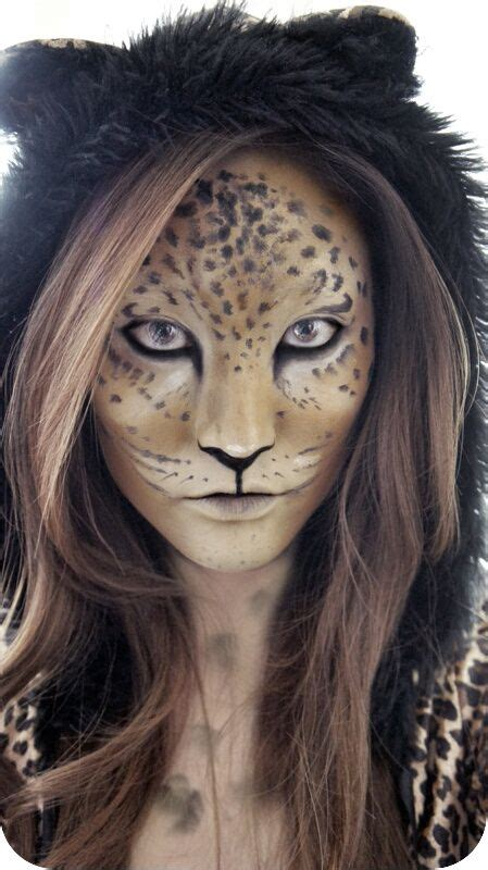 leopard makeup ideas  pinterest leopard