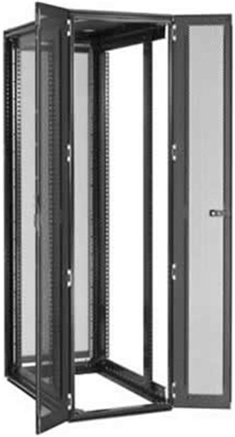 2 door with shelves 42u rack dimensions size specifications