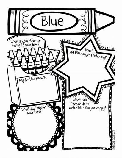 Crayons Quit Coloring Activities Crayon Lesson Template