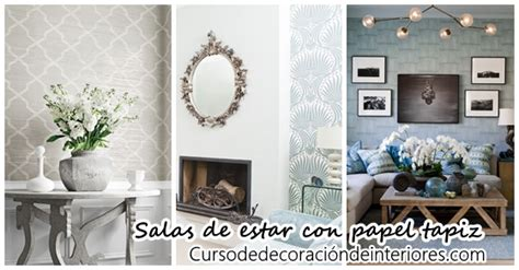 decoracion de salas de estar  papel tapiz curso de