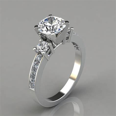 Three Stone Round Cut Engagement Ring  Puregemsjewels. Rahu Rings. Golden Wedding Wedding Rings. Dull Wedding Rings. Intense Engagement Rings. 0.5 Carat Engagement Rings. Light Green Engagement Rings. Brelian Engagement Rings. White Sapphire Rings