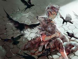 Silver haired anime guy with wolf. | Anime Guys ...