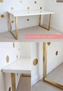 just bella gold desk ikea hack