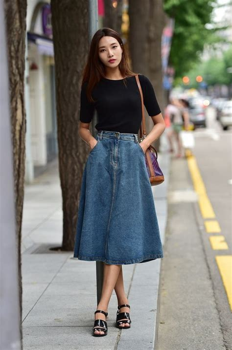 25 Ways To Wear Denim Skirts 2018 | FashionTasty.com