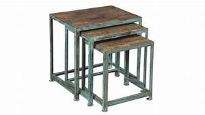 Table Gigogne Industriel : lot de 3 tables gigognes acier design industriel ~ Teatrodelosmanantiales.com Idées de Décoration