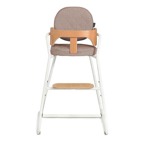 chaise haute bois blanc chaise haute évolutive en bois et métal blanc