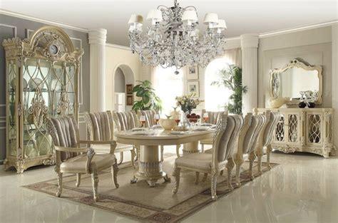 rich european luxury fabric  pc formal dining room set