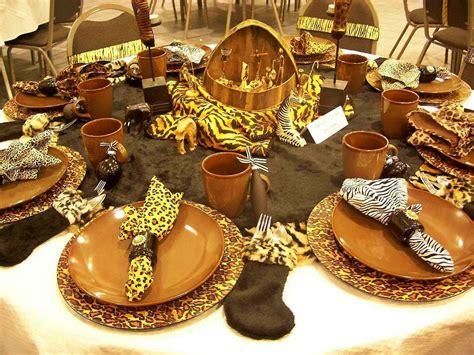 safari decorations  dining table safari jungle party