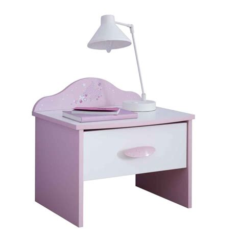 table de chevet enfant table de chevet enfant quot butterfly quot 45cm blanc