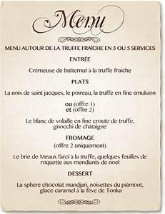 Modele De Menu A Imprimer Gratuit : photo modele menu restaurant gratuit ~ Melissatoandfro.com Idées de Décoration