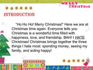 christmas five paragraph essay