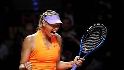 Sharapova Maria Tennis Wta Action Stuttgart Halep