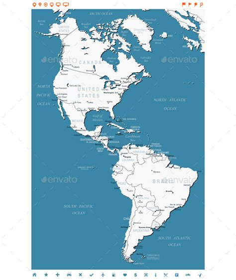 north  south america map  dikobrazik graphicriver